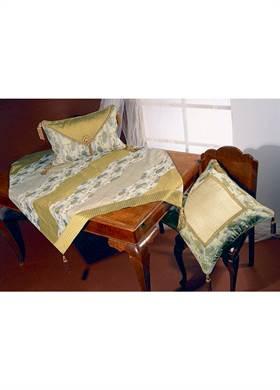 Προσφορά:  Ethnic Decoration - Μαξιλάρι Kedima εκρού-λαδί 60x60cm με19,50€