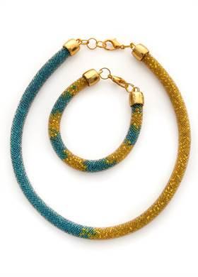 Προσφορά:  DK handmade accessories - Σετ Βραχιόλι και Κολιέ DK HANDMADE με17,90€