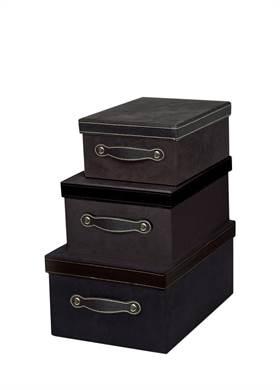 Προσφορά:  Modern Loft - Σετ 3 κουτιά SILA μαύρα με30,00€