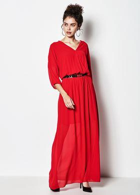 Γυναικείο κόκκινο Φόρεμα LYNNE