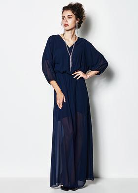 Γυναικείο μπλε Φόρεμα LYNNE