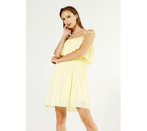 Bsb Vol.4 - Κίτρινο Γυναικείο Φόρεμα BSB