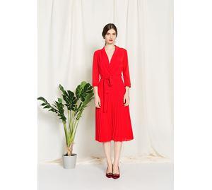 Bsb Vol.6 - Κόκκινο Γυναικείο Φόρεμα BSB