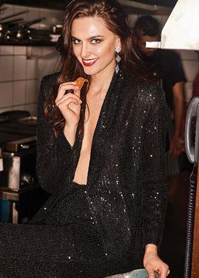 Γυναικείο Σακάκι με παγιέτα LYNNE