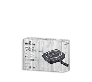 Let's Cook! - Διπλό Τηγάνι 34 cm Herzog