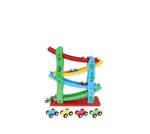 Children's World - Παιδική Ξύλινη Πίστα Αγώνων Τσουλήθρα Aria Trade