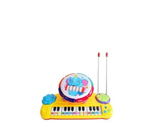 Children's World - Παιδικό Μουσικό Όργανο Αρμόνιο Και Τύμπανο 2 Σε 1 Aria Trade