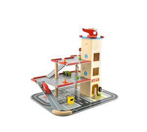 Children's World - Σετ Παιδικό Παιχνίδι Ξύλινο Γκαράζ Με Ελικοδρόμιο Aria Trade