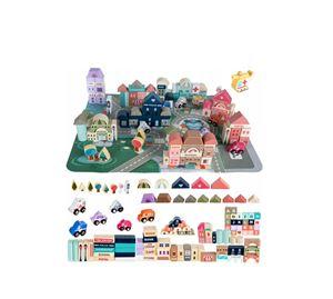 Children's World - Σετ Ξύλινα Τουβλάκια 115 Τεμ. Aria Trade
