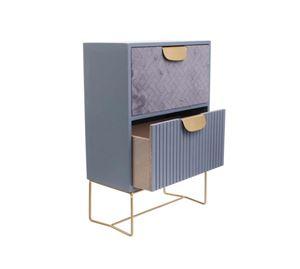 Home Decoration - Mini Συρταριέρα Γραφείου Με 2 Συρτάρια Aria Trade