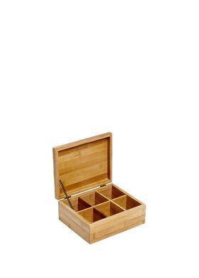 Ξύλινο  Κουτί Αποθήκευσης Bamboo 21.8 x 18 x 9 cm