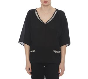Outlet - Γυναικεία Μαύρη Μπλούζα LYNNE