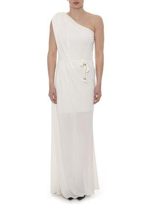 Outlet - Μακρύ Λευκό Φόρεμα LYNNE