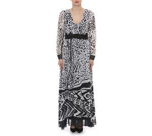 Outlet - Μακρύ Ασπρόμαυρο Φόρεμα LYNNE