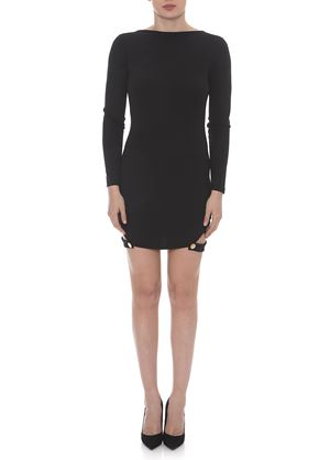 Outlet - Μαύρο Μακρυμάνικο Μίνι Φόρεμα LYNNE