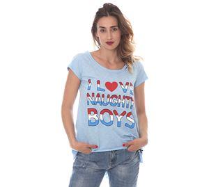 Lynne Vol.6 - Γυναικεία γαλάζια Μπλούζα LYNNE LOVE NAUGHTY BOYS