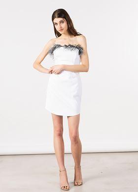 Γυναικείο λευκό Φόρεμα BSB
