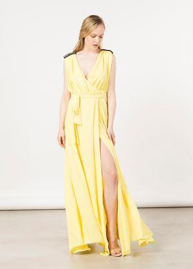 Γυναικείο κίτρινο Φόρεμα BSB