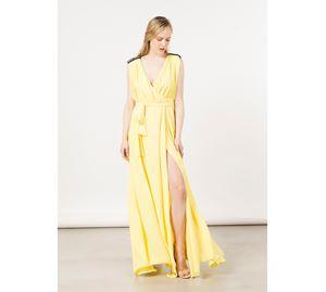 Bsb Vol.7 - Γυναικείο κίτρινο Φόρεμα BSB