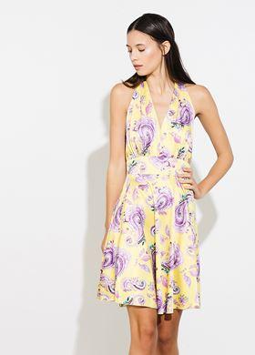 Γυναικείο Φόρεμα κίτρινο BSB