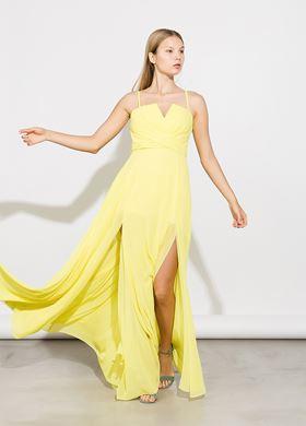 κίτρινο Γυναικείο Φόρεμα BSB