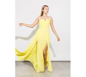 Bsb Vol.7 - κίτρινο Γυναικείο Φόρεμα BSB