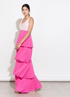 φούξια Γυναικείο Φόρεμα BSB