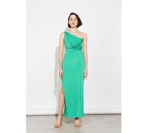 Bsb Vol.7 - Γυναικείο πράσινο maxi Φόρεμα BSB