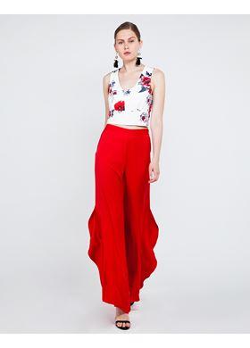 Γυναικείο Παντελόνι LYNNE σε κόκκινο χρώμα