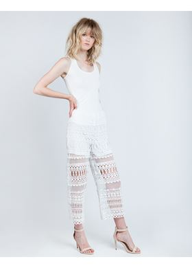 Γυναικείο Παντελόνι LYNNE off-white χρώμα