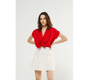 Bsb Vol.3 - Γυναικεία κόκκινο Μπλούζα με κοντά μανίκια BSB