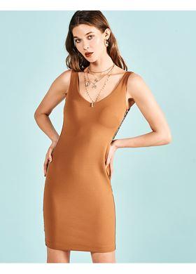 Γυναικείο Φόρεμα LYNNE κάραμελ χρώμα