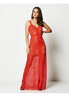 Κοραλί Γυναικείο Φόρεμα LYNNE