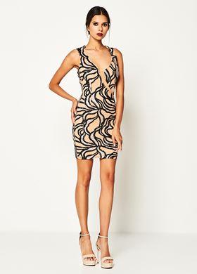Γυναικείο Φόρεμα με παγιέτα LYNNE