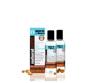 Beauty Wellness - Λάδι Μαλλιών με Argan Oil Of Morocco Moisture Rich Treatment Natural World