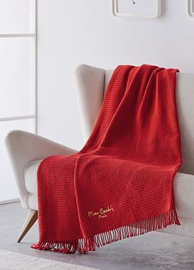 Κουβέρτα καναπέ ριγέ Pierre Cardin