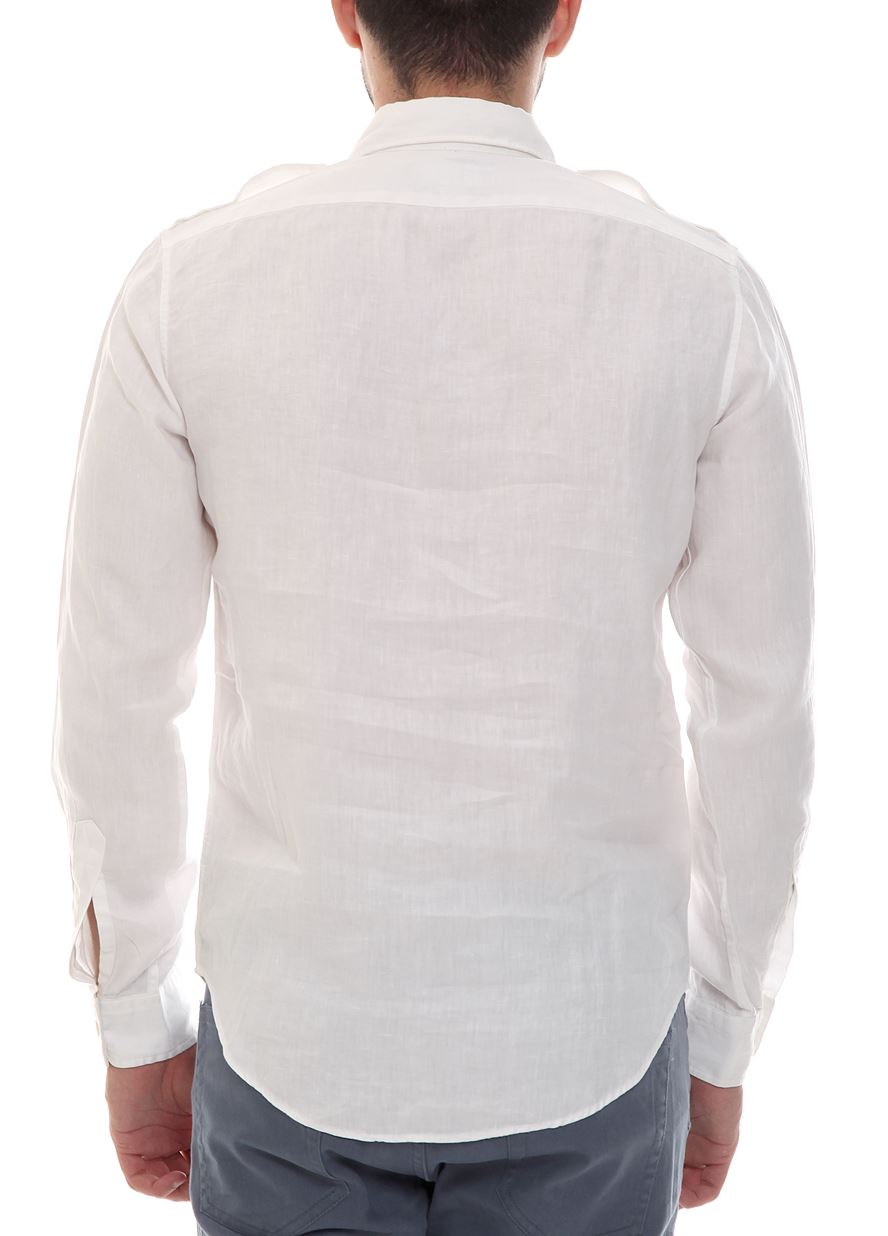 d82a2c0b92b9 Λευκό Λινό Πουκάμισο POLO RALPH LAUREN | brandsGalaxy