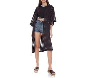 The Coat Trend - Γυναικείο Κιμονό PINK WOMAN