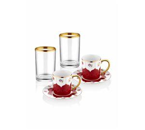Kitchenware Shop - Σετ Φλυτζάνια & Ποτήρια 6 τμχ Hermia
