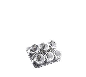 Let's Cook! - Σετ βάζα μπαχαρικών 6 τεμ Luigi Ferrero