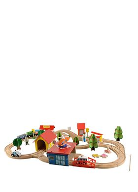 Σετ Ξύλινος Συναρμολογούμενος Σιδηρόδρομος 69 τμχ Aria Trade