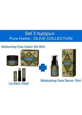 Σετ Moisturizing Face 3τμχ Pure Herbs