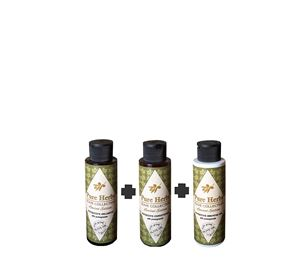Olive Fruits & Fleurs - Σετ 3 Τεμ. Shampoo-Conditioner-Shower Gel Pure Herbs Limited Edition