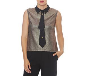 Sinequanone & More - Χρυσό Γυναικείο Πουκάμισο ROBERTA BIAGI sinequanone   more   γυναικεία πουκάμισα