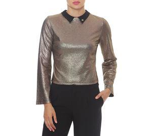 Sinequanone & More - Χρυσή Γυναικεία Μπλούζα ROBERTA BIAGI sinequanone   more   γυναικείες μπλούζες