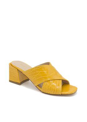Γυναικεία Κίτρινα Mules MIGATO