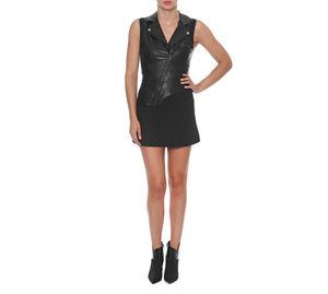 Fracomina - Γυναικείο Φόρεμα FRACOMINA Με δερματίνη και ύφασμα fracomina   γυναικεία φορέματα