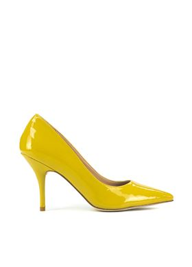 Γυναικείες Γόβες MIGATO PATENT POINTED κίτρινο χρώμα