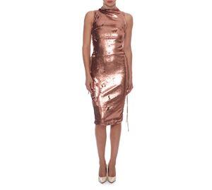 Outlet - Χρυσαφί Φόρεμα WOW