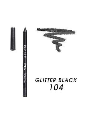 Phoera Cosmetics Eyeliner Gel Pencil Glitter Black 104